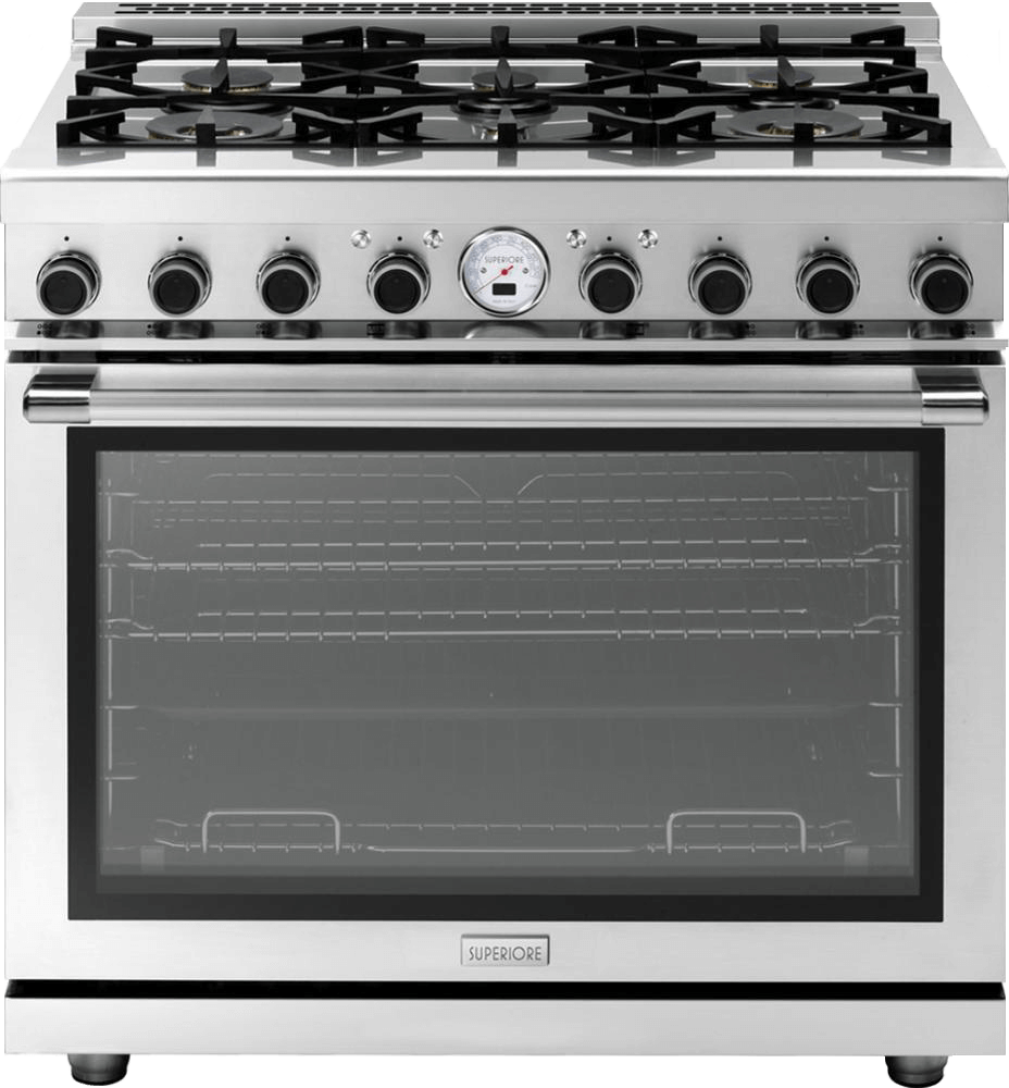 "Range NEXT 36"" Dual-Fuel Stainless steel, Stainless steel"